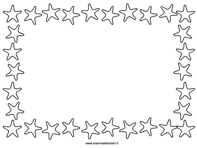 Cornici con campanule bianche disegni colorati migliori for Stelle da colorare per bambini
