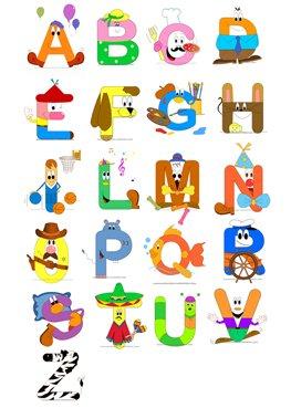 Alfabeto per bambini mamma e bambini for Alfabeti a punto croce per bambini